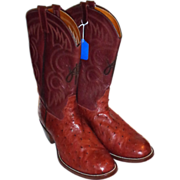 SALE LARRY HAGMAN'S ESTATE -  Custom Monogrammed Ostrich Boots