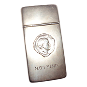 Very Unusual Match Safe (Vesta) or Calling Card Case - Signed by Mark Twain (Samuel Clemons) -