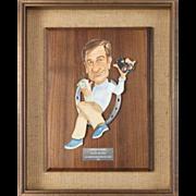 Walter Matthau Award From Lemmon/Matthau Golf Classic, c. 1979