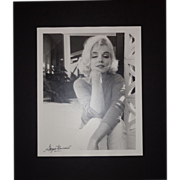 SOLD MARILYN MONROE - Photograph Taken By George Barris, c 1962, Signed