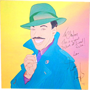 REDUCED EDDIE MURPHY - Large Signed Clayton Lefevre Painting (Signed by Eddie Murphy And The .