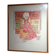 "REDUCED PHYLLIS DILLER Estate - Original Drawing - Mixed Media, Signed ""Kimura"""