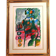 """THEO TOBIASSE (1927-2012) - """"Grande Dame Au Chapeau"""" - Signed and Numbered, From Phyllis Diller estate"""
