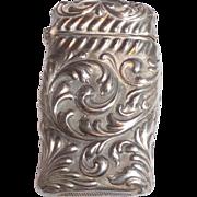 Shiebler Silver Match Safe (Vesta) - Exquisite Repousse Foliate Scroll  - circa 1890