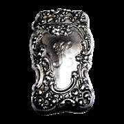 Match Safe (Vesta) - Antique Sterling Silver Unger Bros. - Circa 1890