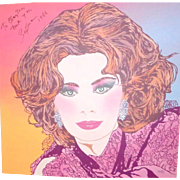 SOPHIA LOREN Portrait - Signed And Dated By SOPHIA and artist Clayton Lefevre