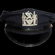 REDUCED Larry Hagman Estate  Policeman's Cap
