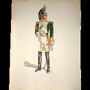 Signed Original Military Sketch By  Jack Muhs,  Circa 1960s