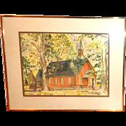 Stanford R. Horn (20th Century) Original Watercolor, Landscape
