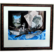"""Bob Byerley Signed, Numbered Limited Edition """"H S T"""" President Harry Truman"""