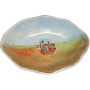 SALE Limoges Signed Porcelain Bowl With Couple and Farm Scene, Charming