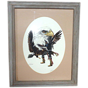 """LARRY HAGMAN'S ESTATE - """"The Messenger"""" Signed Numbered Limited Edition With Personal Note"""