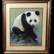 "SALE Original Painting ""Panda Portrait"" - Signed/Dated Maury, 1984"