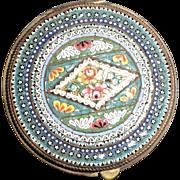 Antique Italian Micro Mosaic Snuff or Trinket Box, Circa 1900