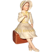 SALE Lovely Limited Edition Porcelain Young Girl In Bonnet and Bows, By Laszlo Ispanky and ...