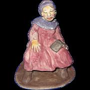 "SALE ""The Chaperon"" Original Ceramic Figure Signed By Artist, Merle Davis"