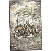 Match Safe With Multi-Figural Scene Of A Folk Band in High Relief