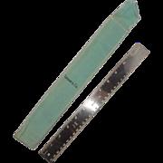 Tiffany & Co. 12 Inch Silver-Plate Ruler With Original Tiffany Bag