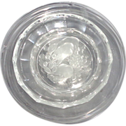REDUCED Signed VSL (Val St. Lambert) Crystal Service With Beautiful Fruit Intaglio, Eight ...