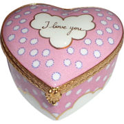 "REDUCED Tiffany & Co.  ""I Love You"" Heart Shaped Porcelain Trinket Box, Made In"