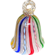 Murano Art Glass Bell and Paperweight With A Plethora Of Beautiful Happy Colors,