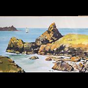 "Original Watercolor ""Seascape"" Signed"