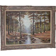 Albert Blaetter (German 1878 - 1935) Very Large Signed Original Antique Oil Painting
