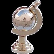 Spinning Brass Globe Paperweight