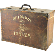 REDUCED WW II Decorated Trunk With Original Artwork By A Soldier In Okinawa