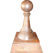Very Unusual Large Carved Wooden Pawn Housing A Chess Set and Board