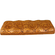 Pair of Natural Huali Wood Scroll Weights/Paperweights, Beautiful Grain