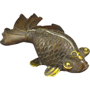 REDUCED Chinese Bronze Art Goldfish, Paperweight/Sculpture