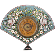 Micro Mosaic Floral And Bird Motif Brass Clock, Hand-Winding, 19th Century