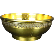Georgian Brass Bowl, C. 1780