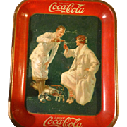 REDUCED 1926 Coca-Cola Golfers Tray, Artist Fred Mizen