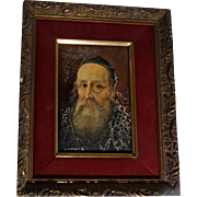 """Signed Original Oil Painting, Old Master Style, """"Portrait Of A Priest"""""""