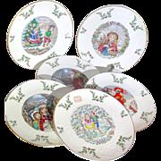 SALE Royal Doulton Christmas Plates -First Through Sixth - 1977 through 1982