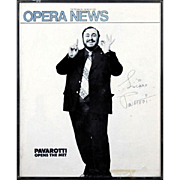 "PAVAROTTI - Signed Cover Of Opera News ""Pavarotti Opens The Met"" October, 1976"