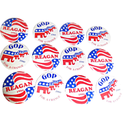 SOLD REAGAN and GOP Campaign Buttons - Six of Each!