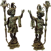 REDUCED Pair of Bronze Nubian Sculptures - From A Mansion In Palm Beach, Florida