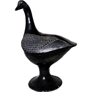 REDUCED DONA ROSE (Mexican 20th Century - Died 1980)   - Signed Mexican Folk Art Black Barro Pottery Duck or Goose