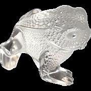 """REDUCED LALIQUE Paris, France - """"Gregoire"""" Fine Crystal Frog"""