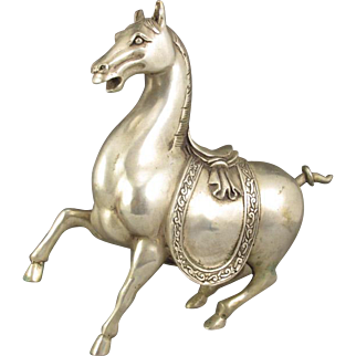 REDUCED Chinese White Copper Sculpture