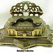 SALE Bradley Hubbard Mfg Co Vintage Brass Inkwell – c.1890