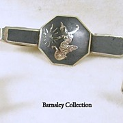 Vintage Siam Sterling Tie Bar and Matching Cuff Links