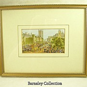 Framed and Glazed Chromolithograph after Le Blond