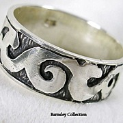 SALE Large Sterling Silver Man's Band Ring