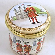 Vintage Halcyon Days Yeoman Warder Retired Trinket Box