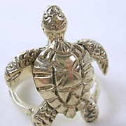 SALE PENDING Sterling Silver Turtle Ring