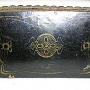SALE Antique Papier Mache Snuff Box C.1880
